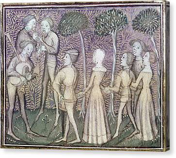 Dancers, C1380 Canvas Print by Granger