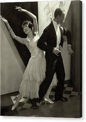 Trocadero Canvas Print - Dancers Fred And Adele Astaire by Edward Steichen