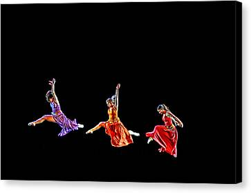 Dancers In Flight Canvas Print by Bill Howard