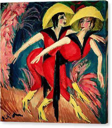 Bold Colors Canvas Print - Dancers In Red by Ernst Ludwig Kirchner