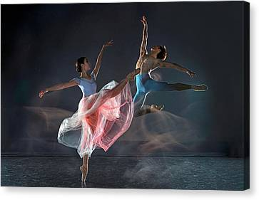 Ballet Dancers Canvas Print - Dancers by Libby Zhang