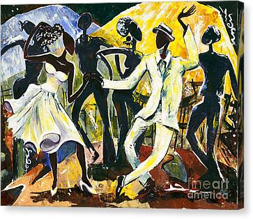 Dancers No. 1 - Saturday Nights Out Canvas Print by Elisabeta Hermann