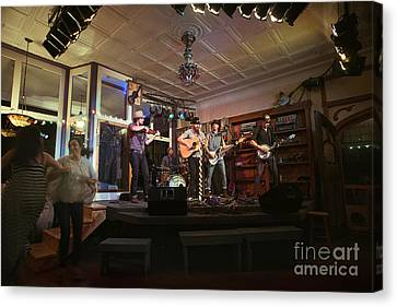 Dancing At The Purple Fiddle With Bryan Elijah Smith And The Wild Heart Band  Canvas Print by Dan Friend