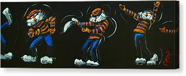 Dancing Aubie Canvas Print by Carole Foret