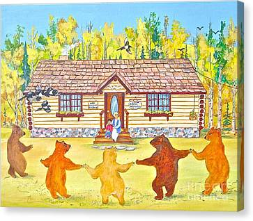 Dancing Bears Canvas Print by Virginia Ann Hemingson