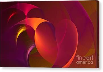Dancing Colors Canvas Print by Hanza Turgul