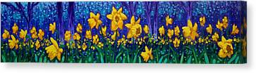 Dancing Daffodils  Canvas Print by John  Nolan