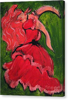 Dancing Doll Canvas Print by Wendy Coulson