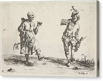 Dancing Farmer And Rancher, Pieter Nolpe Canvas Print by Pieter Nolpe And Pieter Jansz. Quast