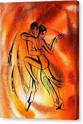 Dancing Fire Iv Canvas Print by Irina Sztukowski