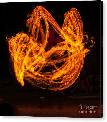 Dancing Flames Canvas Print by Mandy Judson