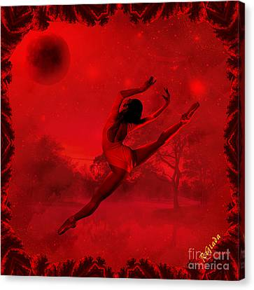 Canvas Print featuring the digital art Dancing For The Moon - Fantasy Art By Giada Rossi by Giada Rossi