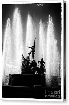 Dancing Fountain Canvas Print by John Rizzuto