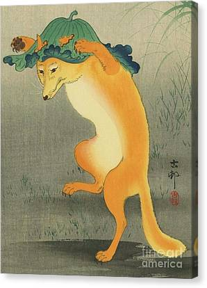 Dancing Fox Canvas Print by Pg Reproductions