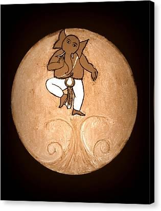 Dancing Ganesha 3 Canvas Print