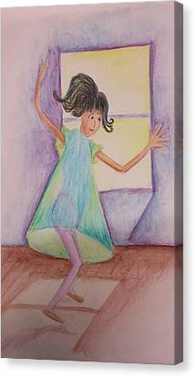 Canvas Print - Dancing Girl by Cherie Sexsmith