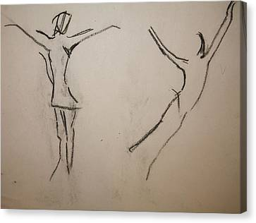 Dancing Girls Canvas Print by Elena Svobodina
