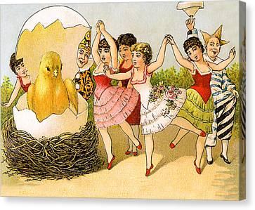 Dancing Girls Canvas Print by Munir Alawi