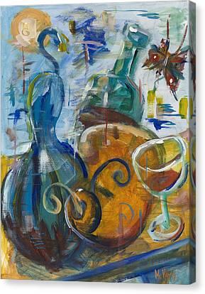Dancing Gourds Canvas Print