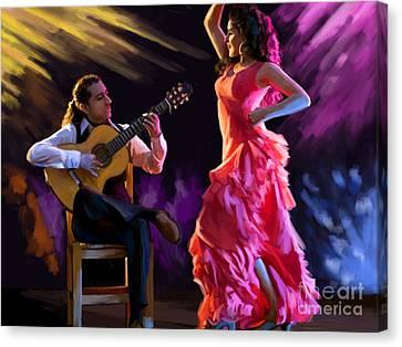 Dancing Gypsy Woman Canvas Print