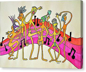 Dancing Happy People Canvas Print by Glenn Calloway