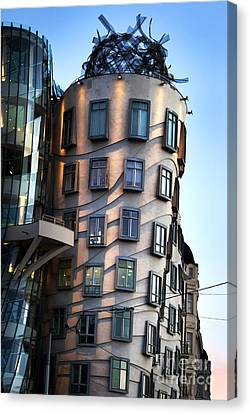 Dancing House In Prague Canvas Print