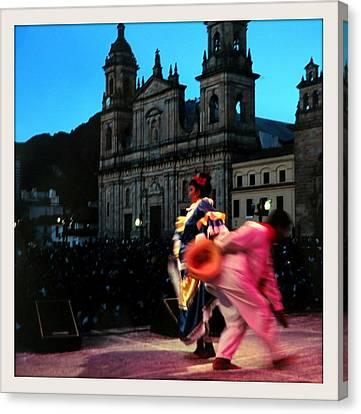 Dancing In Bogota Canvas Print by Daniel Gomez