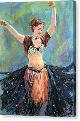 Canvas Print featuring the painting Dancing In The Air by Jieming Wang