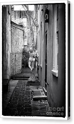 Dancing In The Alley Canvas Print by John Rizzuto