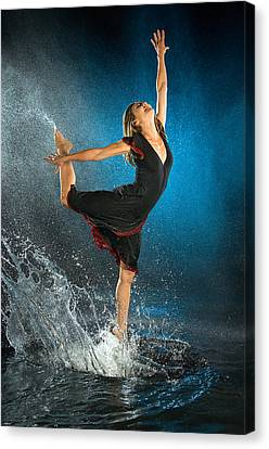 Dancing In The Rain Canvas Print by Adam Chilson