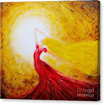 Dancing In The Sun Canvas Print by Martin Capek