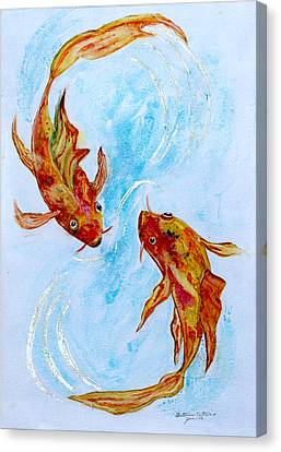 Dancing Koi Sold Canvas Print