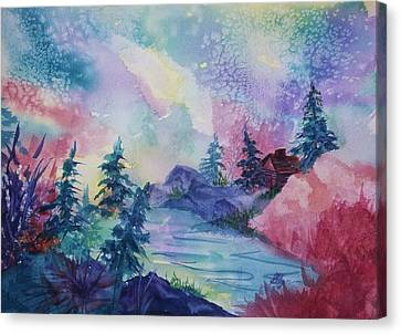 Dancing Lights II Canvas Print by Ellen Levinson