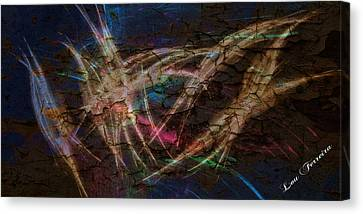 Abstract Art On Canvas Print - Dancing Lights by Louis Ferreira