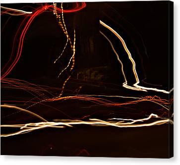 La-405 Dancing Lights Canvas Print