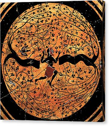 Ancient Greek Canvas Print - Dancing Man - Study No. 2 by Steve Bogdanoff