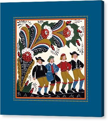 Dancing Men I Canvas Print by Leif Sodergren