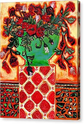 Dancing On A Pedestal Canvas Print by Diane Fine
