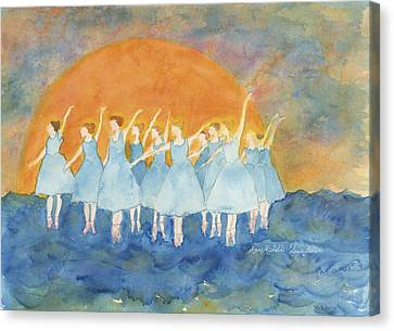 Dancing On Top Of The Sea Canvas Print