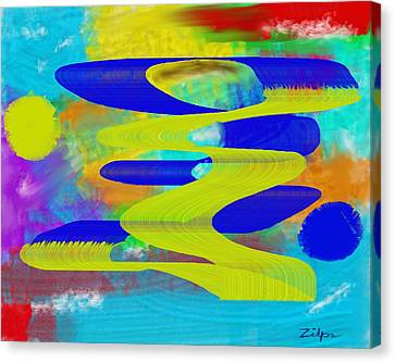 Dancing Ribbons Canvas Print by Zilpa Van der Gragt