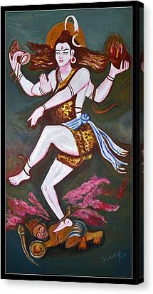 Dancing Siva  Canvas Print by Anand Swaroop Manchiraju
