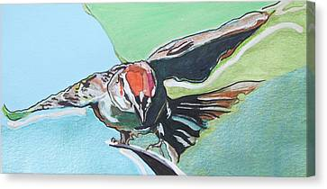 Dancing Sparrow Canvas Print by Jamie Downs