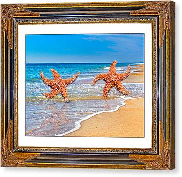 Dancing To The Beat Of The Sea Canvas Print by Betsy Knapp