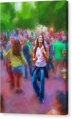 Dancing To The Drums Canvas Print