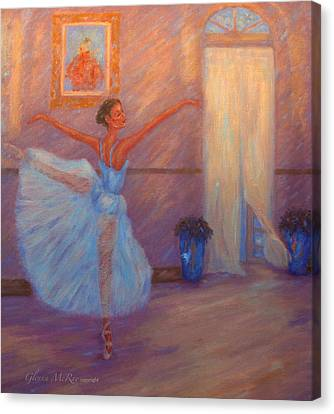 Dancing To The Light Canvas Print by Glenna McRae