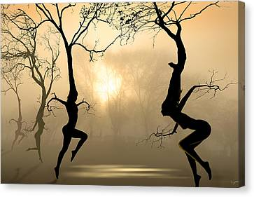 Dancing Canvas Print - Dancing Trees by Igor Zenin