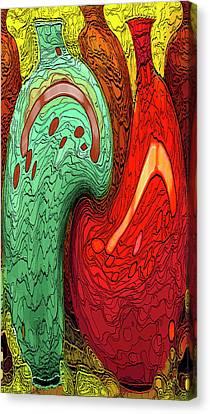 Dancing Vases Canvas Print by Ben and Raisa Gertsberg