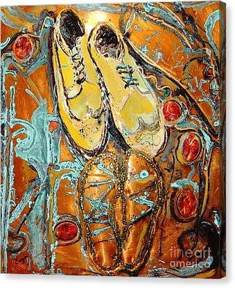 Dancing With Daddy Canvas Print by Ecinja Art Works