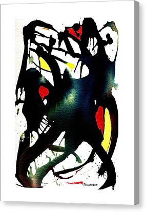 Dancing With The Shadow Canvas Print