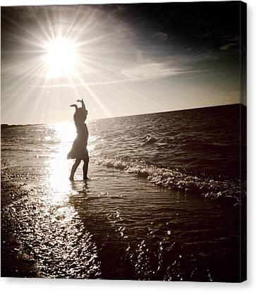 Dancing With The Sun Canvas Print by Natasha Marco